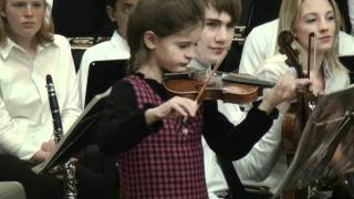 Emma-Nicole playing Humoresque on the violin