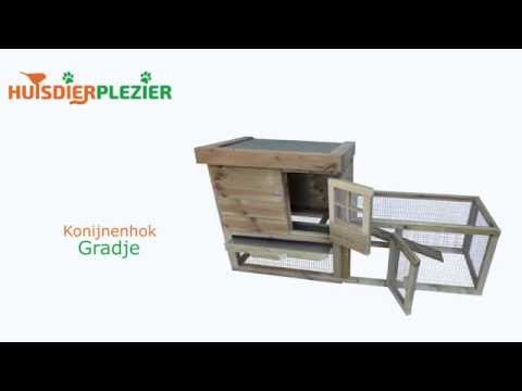 Huisdierplezier.nl | Konijnenhok Gradje | Konijnenhok bouwen