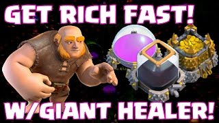 Clash Of Clans attack strategy clash of clans Stole Elixir Fast