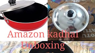 Amazon buy. Expectation v/s reality.  Nirlon 2.5 lit nonstick kadhai  review & unboxing