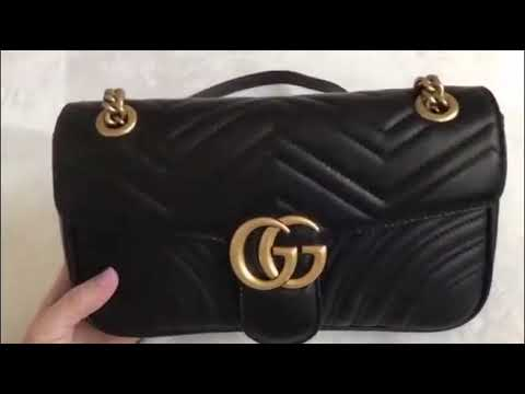a2046c31a783 Gucci gg gg marmont matelesse velvet bag (replica) - YouTube