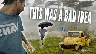 STUCK IN HURRICANE IRMA!! Storm adventure, LIVE Stream & Storm Prep - Pt 1