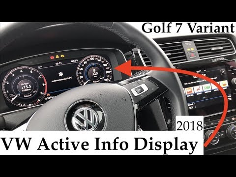 digitales cockpit vw active info display im golf 7. Black Bedroom Furniture Sets. Home Design Ideas