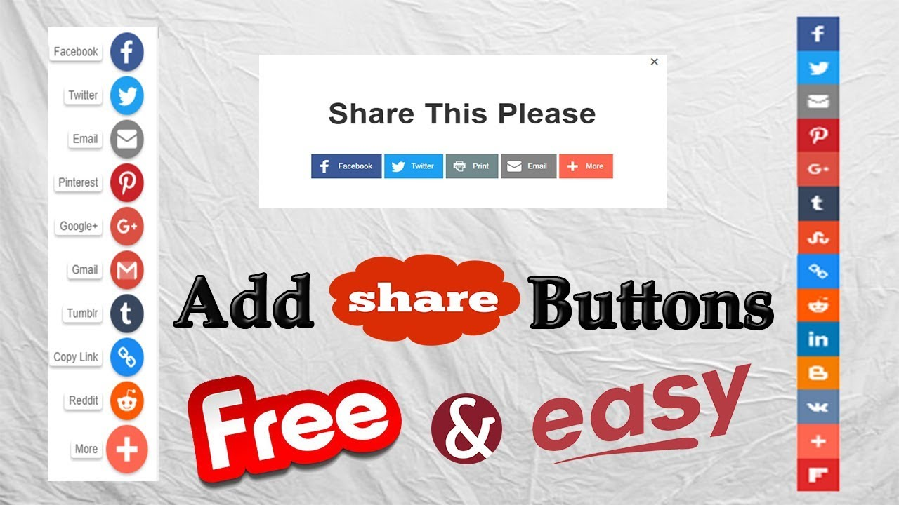 Share Websites Share Button Generator How To Create Add Stylish Social Share Buttons For Your Websites Blogs