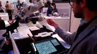 YuMi is an artist - ABB & HAL Robotics - InnoRobo Paris 2016