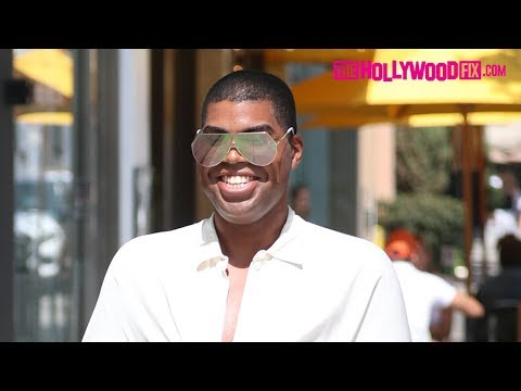 EJ Johnson Steps Out Wearing $1500 Gucci Pants In Beverly Hills After The Passing Of  McHenry
