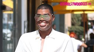 EJ Johnson Steps Out Wearing $1500 Gucci Pants In Beverly Hills After The Passing Of Lyric McHenry