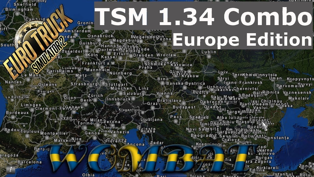 ETS2 1 34 - TSM Big Map Combo, Europe Edition including optional profile