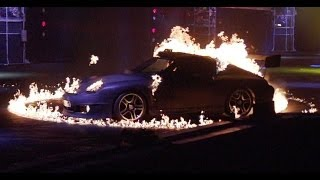 Flaming Porsche 911s in Super Slow-Mo - INFERNO - Top Gear Live 2014 Glasgow