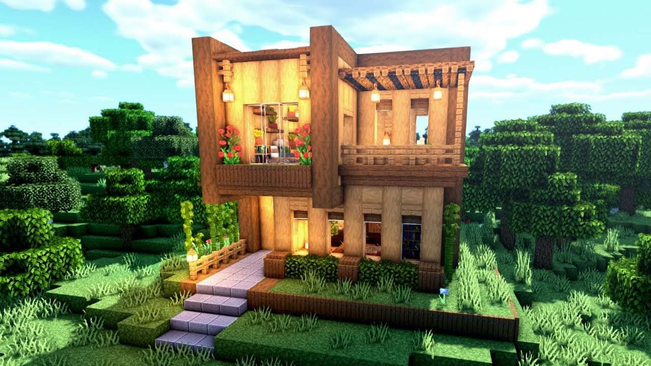 Minecraft: How to Build a Simple Modern House | Minecraft Build Tutorial