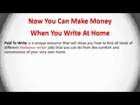 Writing Jobs from Home - Become a Freelance Writer