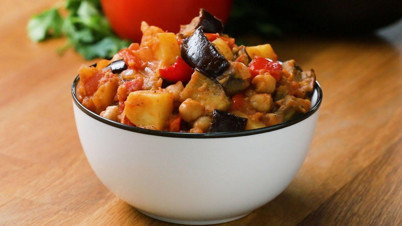 Eggplant Potato Tomato Stew