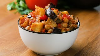 Eggplant Potato Tomato Stew