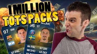 NIET NORMAAL!! 1 MILJOEN TOTS PACKS! FIFA 15 pack opening