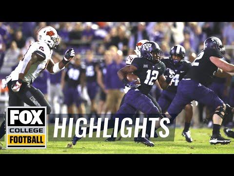 TCU vs Oklahoma State | FOX COLLEGE FOOTBALL HIGHLIGHTS