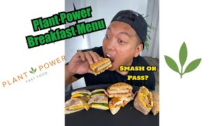 Ordered every Breakfast menu item at Plant Power Fast Food...Good or Nah?