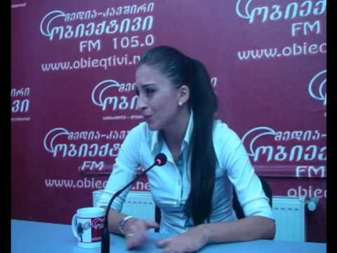 Sofia Koberidze interview tv and radio  obieqtivi