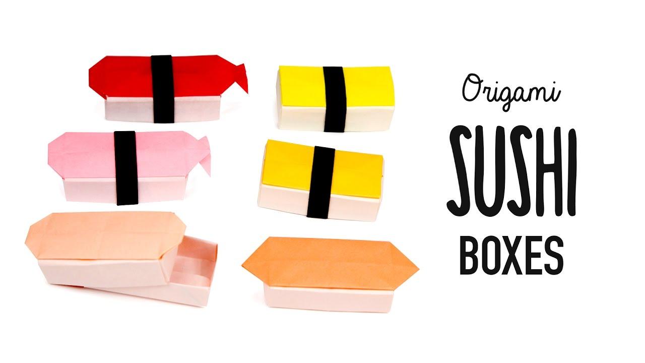 Origami Sushi Boxes Tutorial - DIY - Paper Kawaii - YouTube - photo#48