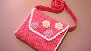 9571eb4b0c13 Детская сумочка крючком.Часть №1 - YouTube