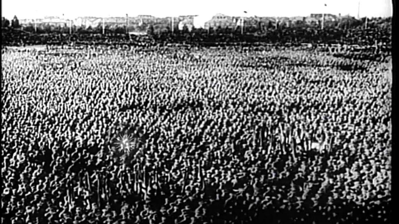 adolf hitler addresses hitler youth meeting in thuringia
