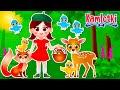 SZŁA DZIEWECZKA. LICZYMY ZWIERZĄTKA – Piosenka dla dzieci | Kamlotki
