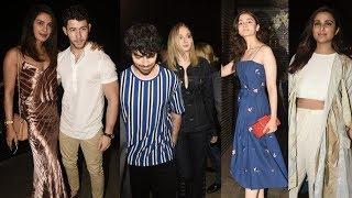 Priyanka Chopra, Nick Jonas, Sophie Turner And Joe Jonas Step Out For Dinner In Mumbai