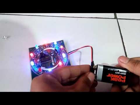 Kit Edukasi Lampu Running LED / Rangkaian Elektronika Dasar