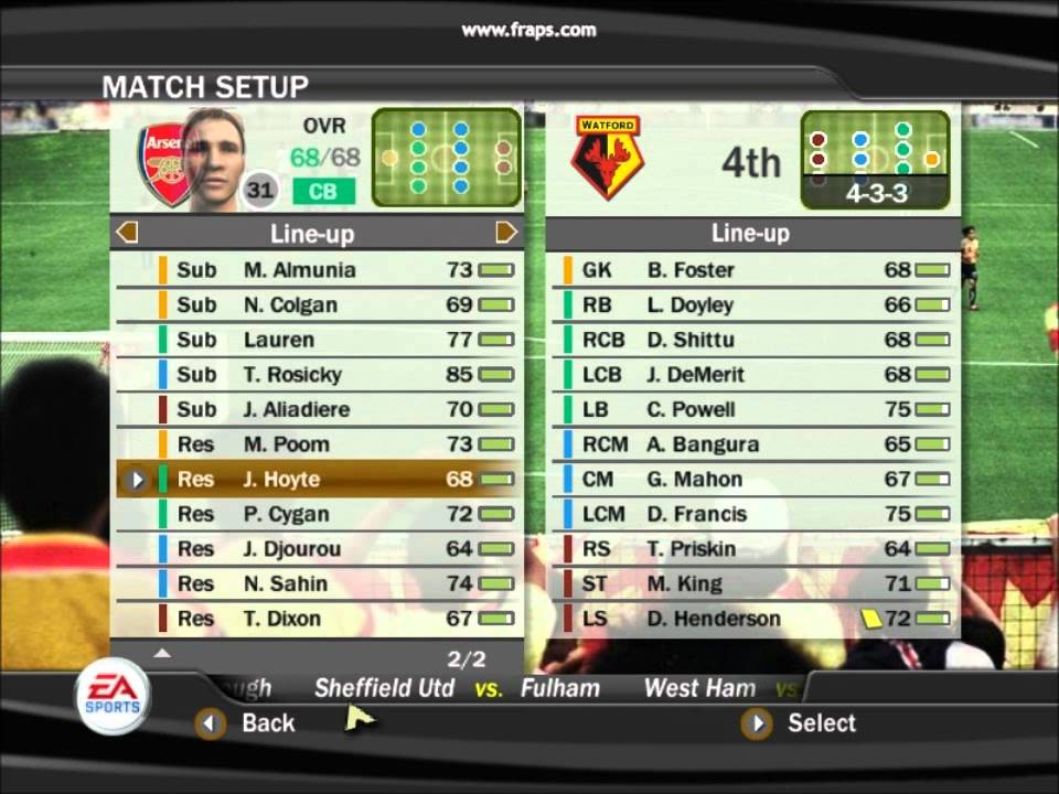 Fifa 07 manager mode guide what is an if player fifa