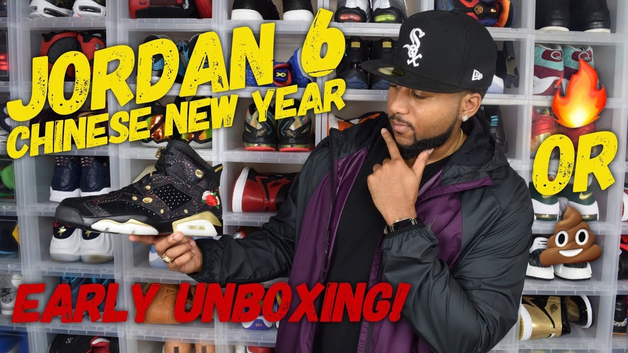 e7c8ed30d784c8 Jordan 6 CNY Chinese New Year AA2492-021 First Look ! Early Unboxing    Review  air trafficking. Air Trafficking
