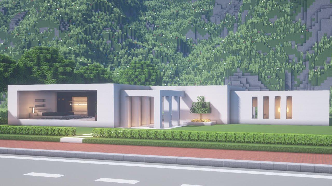 Minecraft Modern House Tutorialㅣmodern City 4 Youtube