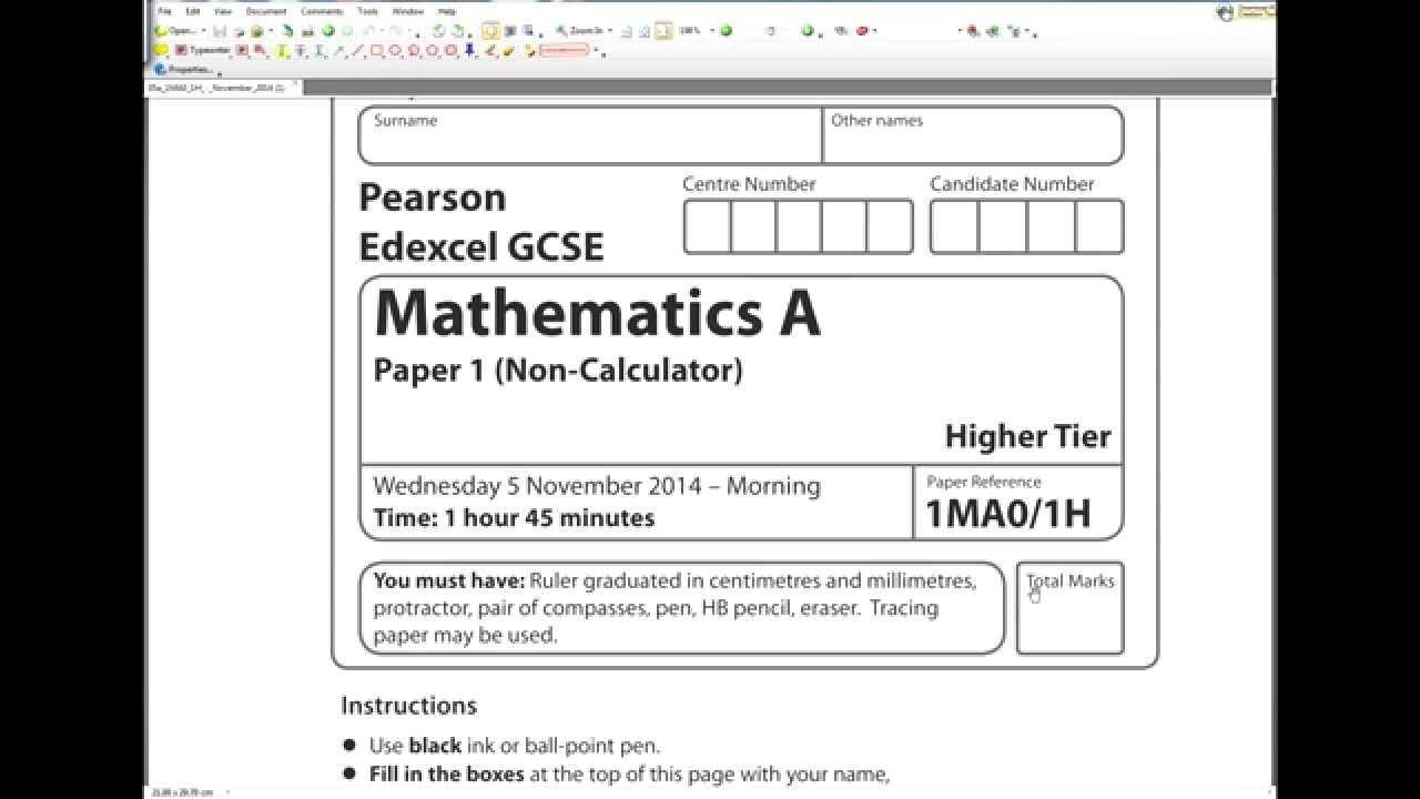 edexcel maths intermediate papers Gcse maths aqa past papers  june 2004 paper 1 intermediate - question  paper (117k) paper 1  paper 2 intermediate - mark scheme (238k)  november.