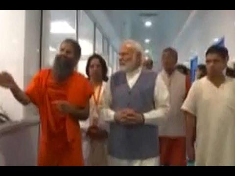 PM Narendra Modi visits Patanjali Research Institute at Patanjali Yogpeeth in Haridwar