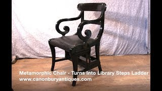 Metamorphic Chair   Turns Into Library Steps Ladder