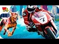 Bike racing games - Zombie City Bike Racing - Motorcycle games for kids