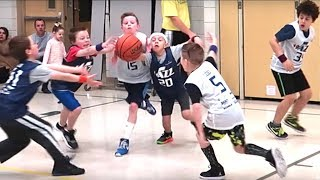 👦🏽🏀KIDS BASKETBALL BRAWL! FIGHTING FOR THE REBOUND!💪