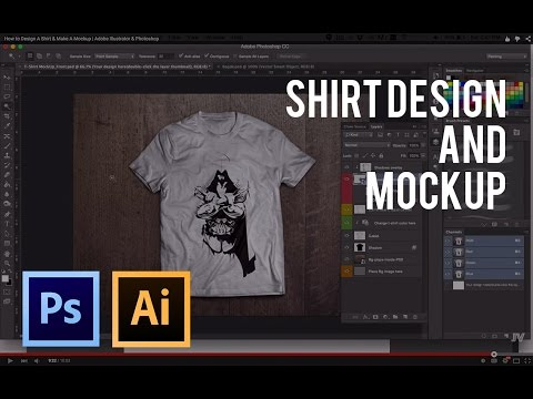 How to Design A Shirt & Make A Mockup | Adobe Illustrator & Photoshop