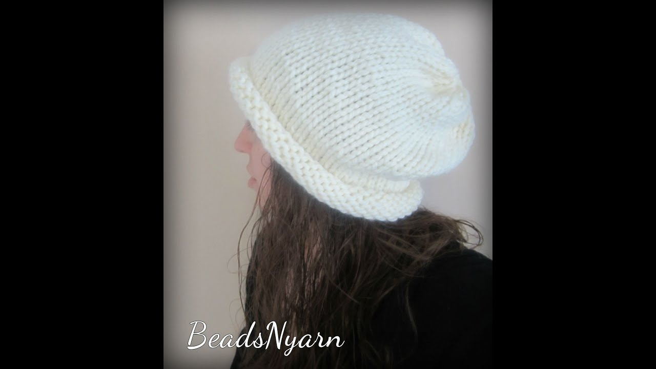 7c5141f9dae Knit your own Slouchy Hat - 5 hours! - YouTube