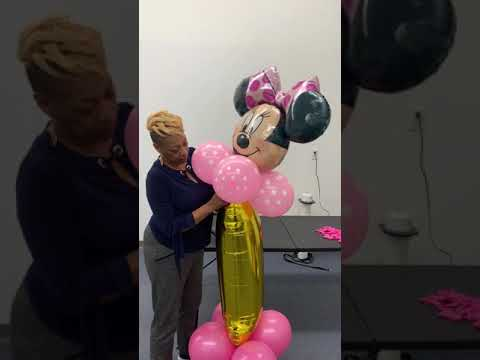 How To Make Minnie Mouse Number Balloon Column DIY Party Decorating Kit Instructions March 1, 2019