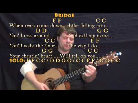 Your Cheatin' Heart (Hank Williams) Guitar Cover Lesson with Chords/Lyrics