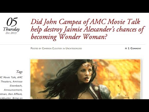 Did I Prevent Jaimie Alexander From Being Wonder Woman? My Response To The Article That Says I Did.
