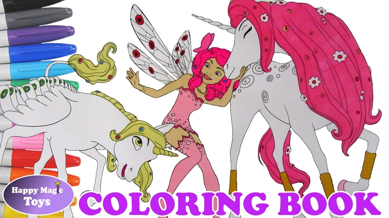 Mia And Me Coloring Book Mia With Onchao And Lyria Coloring Page