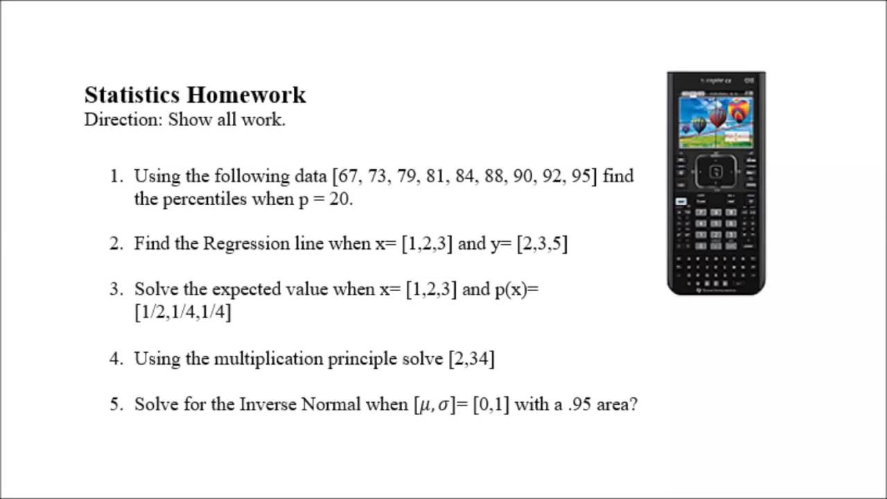 statistics homework step by step using the ti nspire statistics homework step by step using the ti nspire