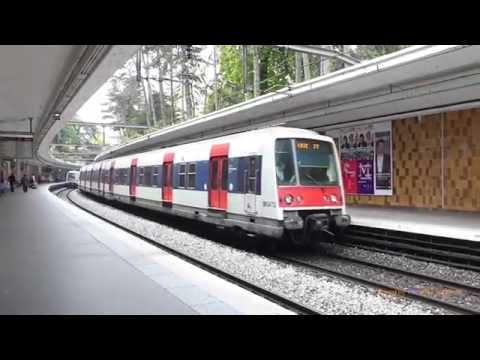 RER Trains in Paris, France