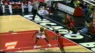 Allen Iverson vs. Michael Jordan Chicago Bulls 96/97 NBA *1st meeting between them