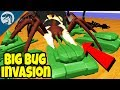 CRAZY HUGE BUG ARMY vs. PLASTIC ARMY MEN | Home Wars Battle Gameplay First Look