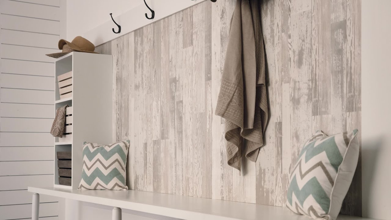 Decorating With Laminate Flooring On Your Walls Youtube