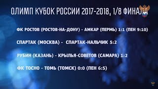 Об итогах 1/8 финала Олимп-Кубка России | РФС ТВ