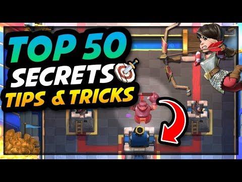 Clash Royale - TOP 50 AMAZING Strategy, Secrets, Tips & Tricks!