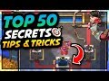 Clash Royale - TOP 50 AMAZING Strategy, Secrets, Tips & Tricks!