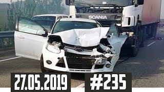 Подборка Аварий и ДТП с видеорегистратора №235 за 27.05.2019 Accidents In May